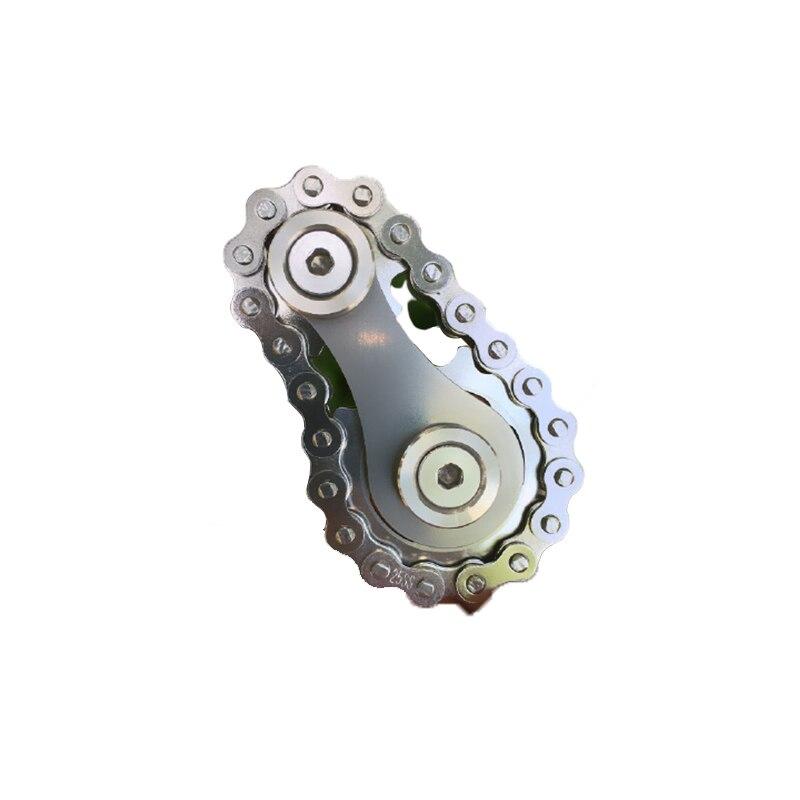 Sprockets Flywheel Fingertip Gyro Sprockets Chains  Metal Toy  Gear Chain Gyro Sproket Roadbike Spinner for Christmas Gift enlarge