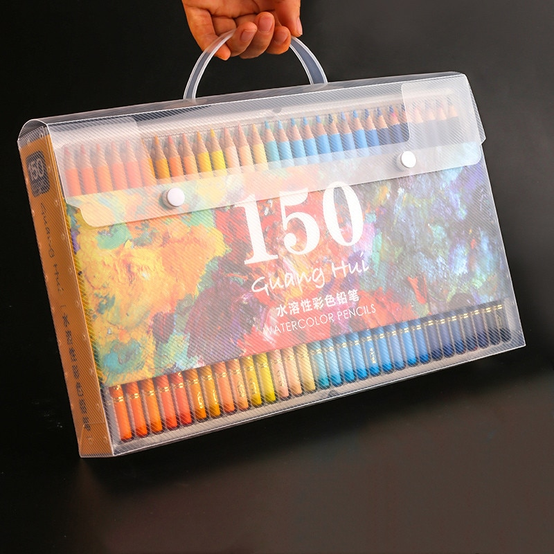 Multicolour 180 Colors Professional Watercolor Drawing Pencils Artist Painting Sketching Wood Color Pencil School Art Supplies