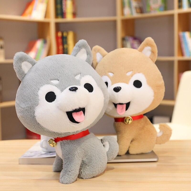 Muñeco de felpa con dibujos de perro esquimal de felpa, juguete infantil...