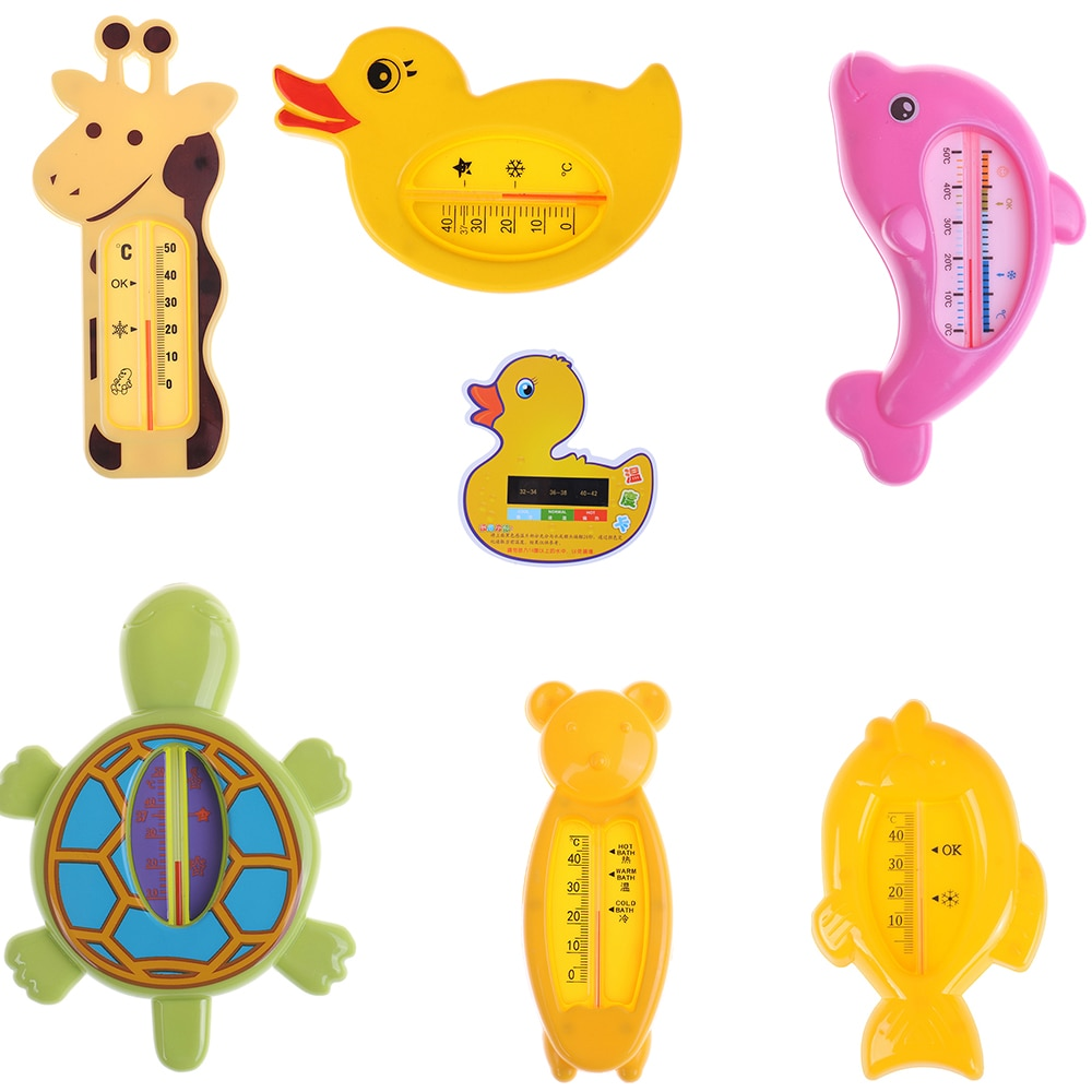 1pc Baby Bath Thermometer For Newborn Small Bear Fish Dolphin Duck Water Temperature Meter Bath Baby