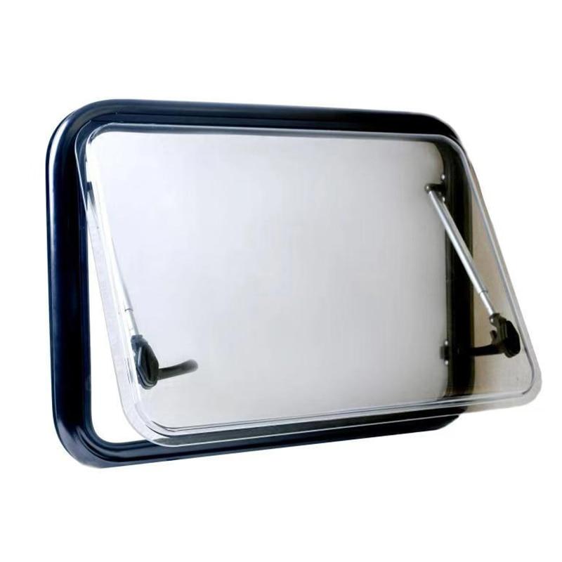600X450mm RV Camper Aluminum Alloy Round Corner Window Acrylic insulation Glass Travel Trailer Motorhome Caravan Accessories enlarge