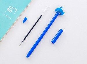 8 PCs Creative Deep Sea Small Blue Whale Gel Pen Black Ink Pen Signature Pen Student Prizes Gel Pen Stationery Wholesale