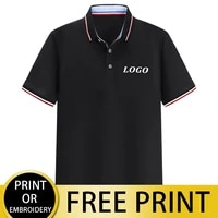 cust company custom polo shirts can print logo pictures embroidery men%e2%80%99s and women%e2%80%99s personalized design tops t shirts striped c