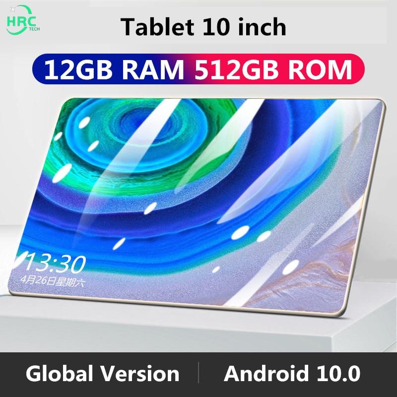Планшет M30 Pro, 12 Гб ОЗУ, 512 Гб ПЗУ, 10,1-дюймовый планшет android глобальная версия, планшеты mtk6797, 10-ядерный планшет с GPS, планшет для телефонных звонк...