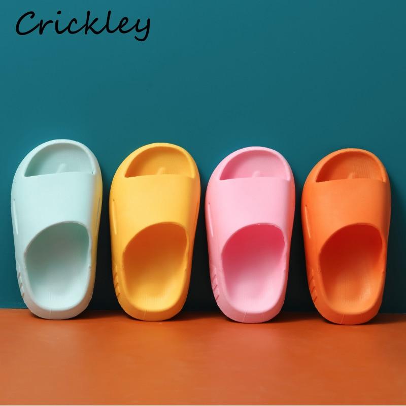Children's Slippers Summer Pinkycolor cute Beach Shoes For Boys Girls Waterproof Antiskid Bathroom K