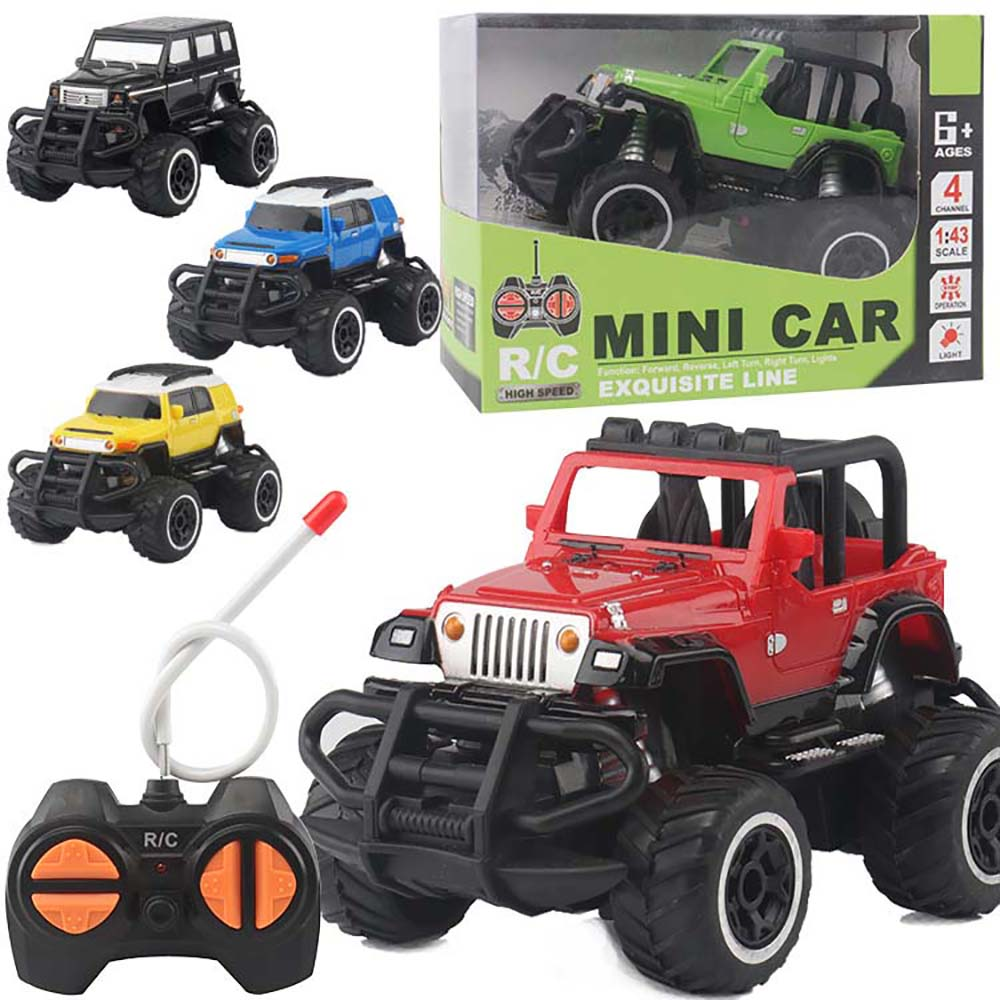 HISTOYE 1:43 мини четырехходовой автомобиль с дистанционным управлением внедорожный Радиоуправляемый автомобиль гусеничный альпинистский автомобиль с багги, игрушечный светильник, подарки для детей