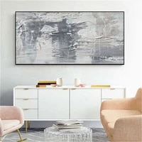 handpainted abstract oil paintings on canvas new york home decor white gray city pictures large wall painting art for living roo