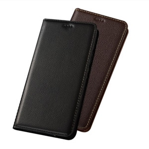 Genuine Leather Phone Case Card Pocket Holster For Nokia 6.1 Plus/Nokia 6/Nokia 6 2018 Flip Cover Magnetic Phone Bag Stand Coque