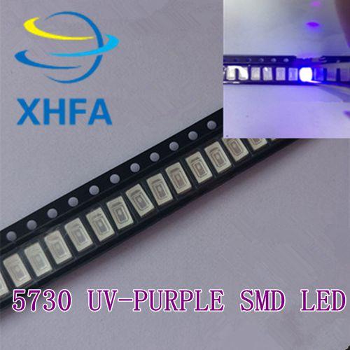 200PCS 5630/5730 SMD/SMT UV/roxo 395-400nm Luz chip de lâmpadas LED crystal Clear beads LED de BOA qualidade