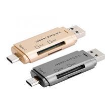 Lecteur de carte multifonction pour ordinateur de téléphone Portable 2 en 1 Portable convertisseur mémoire TF SD lecteur de carte USB