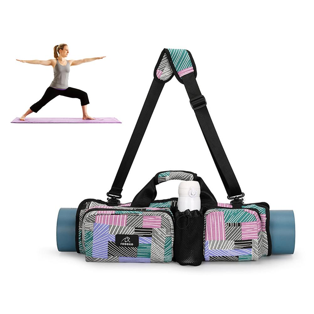Yoga Mat Bag With Multi-Functional Storage Pockets Carry Bag Fit...