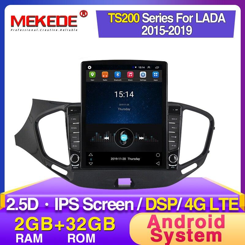"Mekede hd ips 2.5d 9.7 ""tela de tesla para lada vesta cruz esporte 2015-2019 android rádio do carro multimídia jogador gps navi dsp dvd"