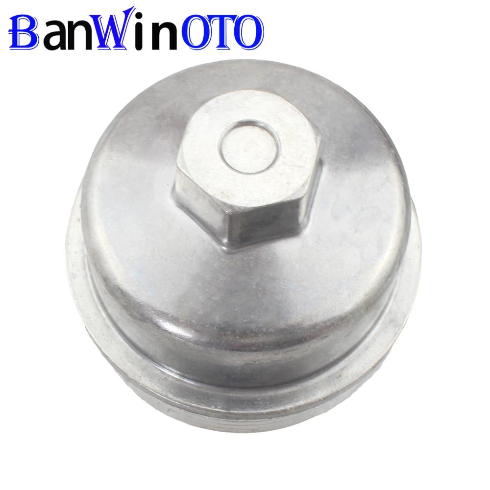 Tapa de filtro de aceite de motor de aluminio para Chevrolet Cruze Aveo Sonic Trax Opel Astra 55353325 55593189 5650963 Banwinoto