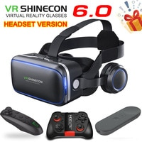 Оригинальные очки виртуальной реальности VR shinecon 6,0 Standard edition и версия гарнитуры 3D VR гарнитура для шлема с дополнительным контроллером