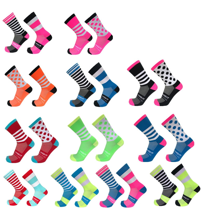 dh sports new cycling socks top quality professional brand sport socks breathable bicycle sock outdoor racing big size men women New stripe Dot Cycling Socks Top Quality Professional Brand Sport Socks Breathable Bicycle Sock Outdoor Racing Running Socks