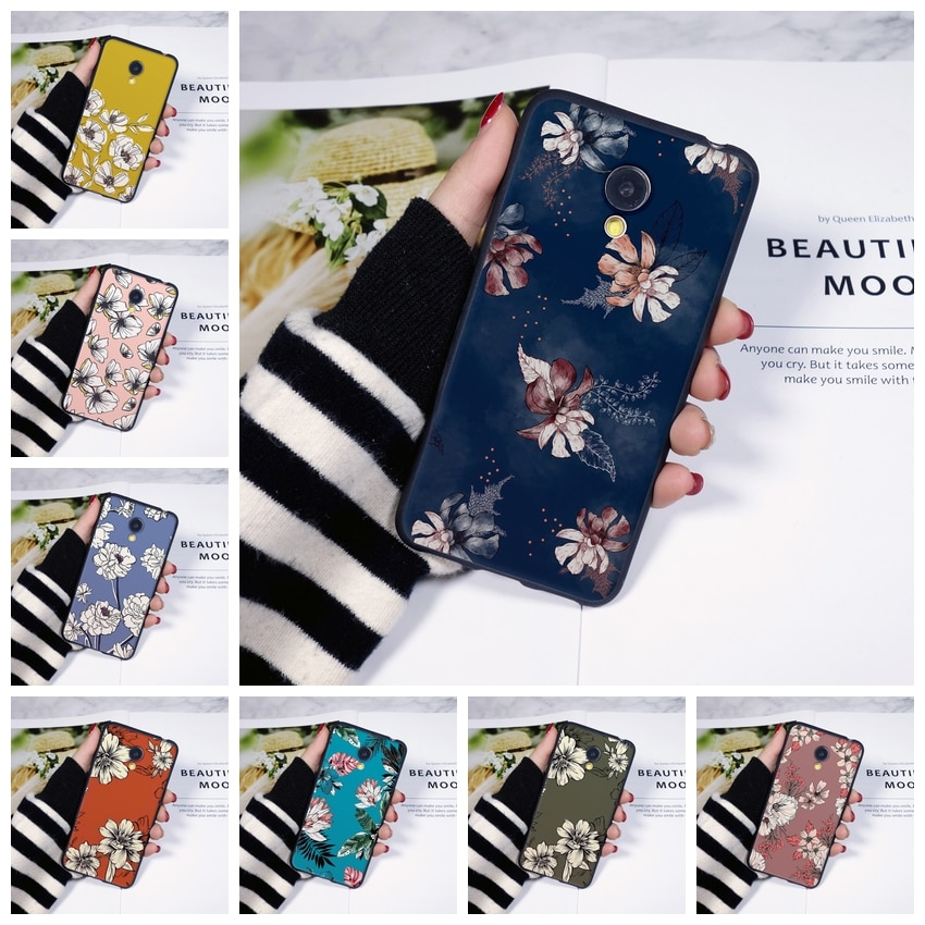 Phone Case Silicone For Meizu M6 M6S M6T M5 M5C M5S M3 M3S M2 Floral Yellow Flower Soft Back Cover F