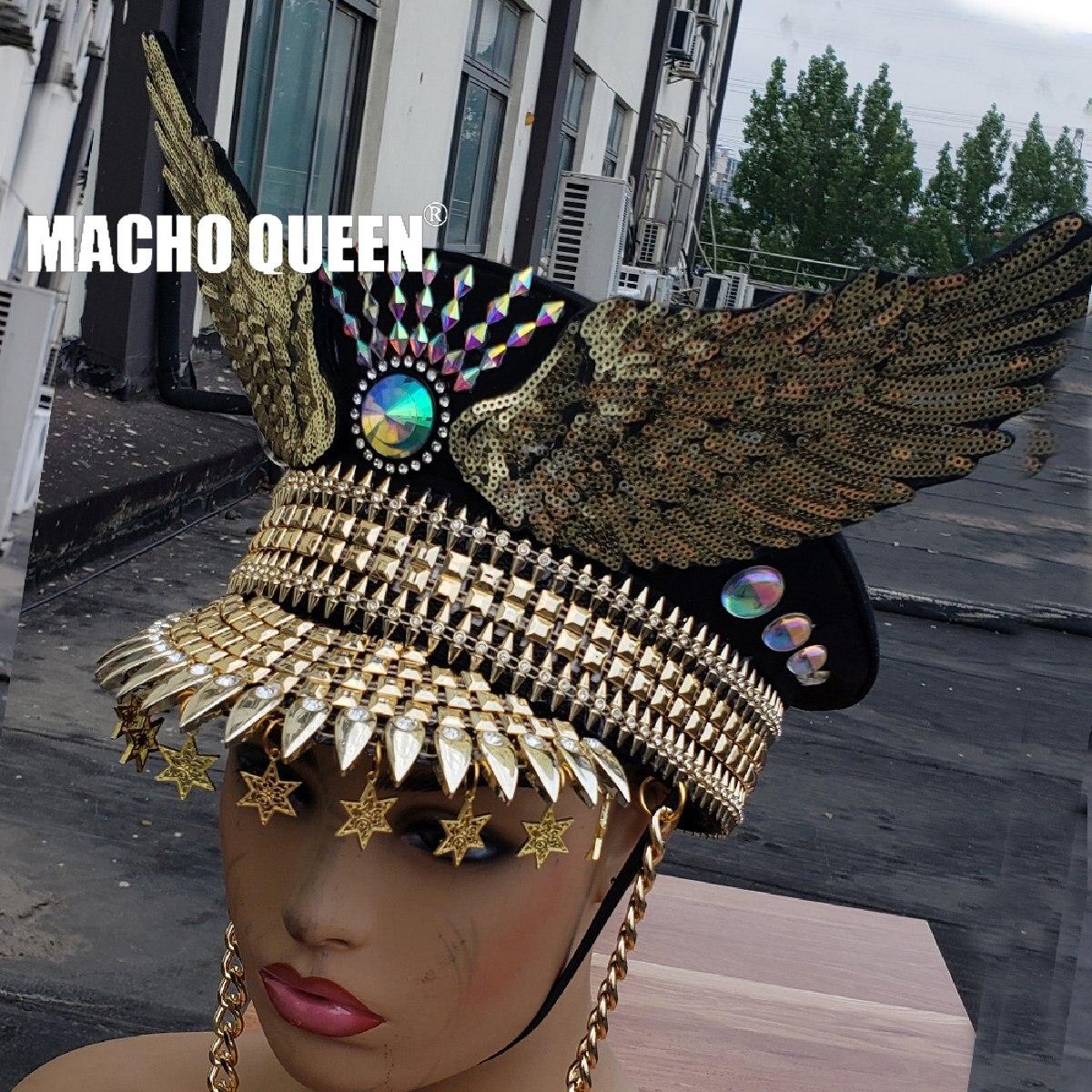 ملابس حفلات موسيقية ثلاثية الأبعاد للصيف ، ملابس خروج ، ملابس خروج ، ملابس بتصميم الملكة الدي جي جوجو ، قبعة راقصة ، قبعات عسكرية