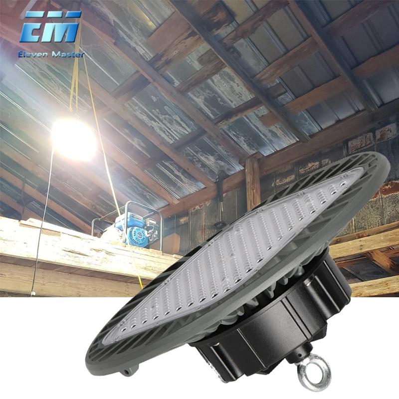Garage Lampe Verformung UFO Led Licht Hohe Bucht Licht 50W 200W 220v Lichter Für Tankstelle Baldachin werkstatt Fußballplatz ZDD0019