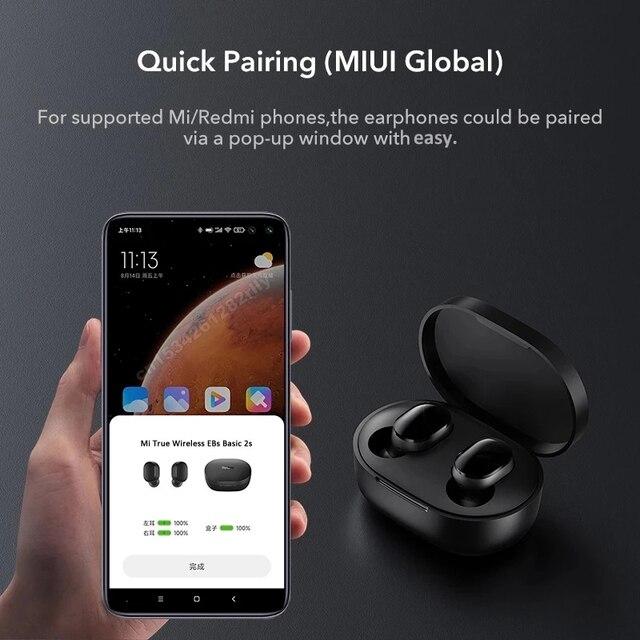 Original Xiaomi Redmi Airdots 2s Earphone Mi True Wireless Earbuds Basic 2s Bluetooth 5.0 Air2SE TWS Microphone Gaming Earphones 4