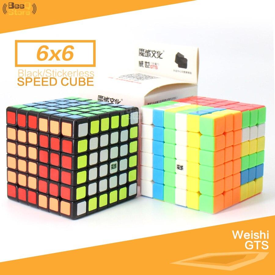 Cubo mágico Moyu Weishi GTS 6x6x6, Cubo de velocidad negro/sin adherente, Cubo profesional, Puzzle mágico, 6 capas, 6x6 WCA, juguete suave para chico