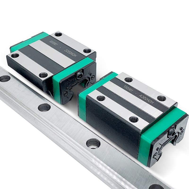 شحن مجاني الخطي السكك الحديدية 1 قطعة HGR15 الخطي دليل + 2 قطعة HGH15CA أو HGW15CC كتلة L 300 400 500 600 700 800-1200 مللي متر ل CNC
