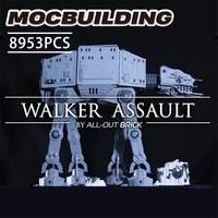 new building blocks compatible moc 4042 star plan cavegod ucs at at walker assault moc bricks gifts rebrickable diy toy gift