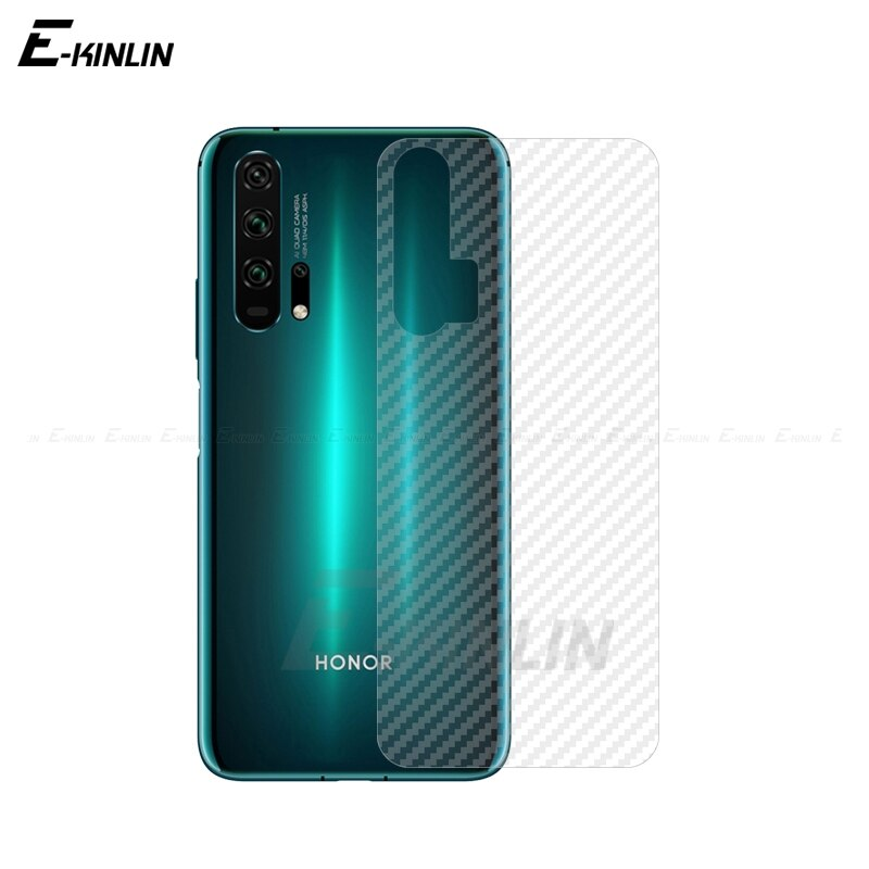 De fibra de carbono película para HuaWei Honor 30S 20S 20E 10i 20i 10 20 30 Pro plus Lite trasero Protector de pantalla no de vidrio