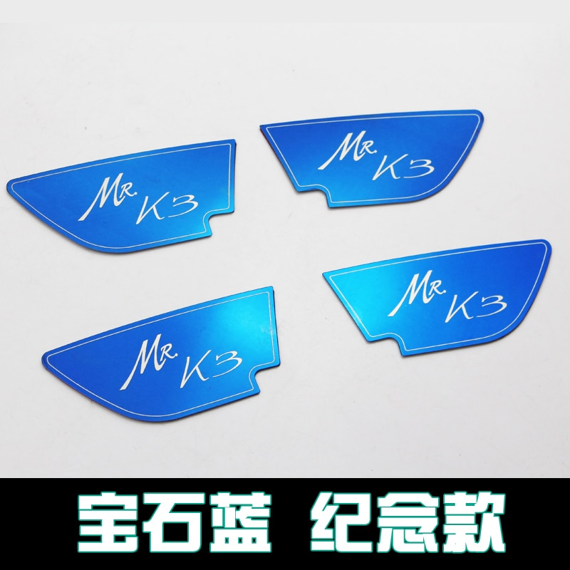 Fashion Inner Door Handle Cover Trim Decorative Frame Car Stylings Auto accessories For Kia K3 2013-2018 decoration car accessories chromium parts decorative frame plate modification wrist handle door sequins for ford mondeo 2015 2018