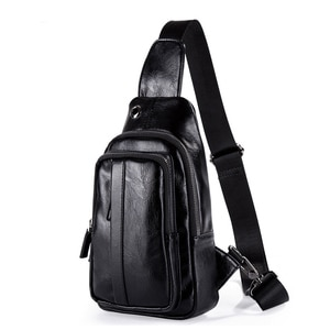 2021 the new leisure men's chest package han edition single shoulder bag business headphone jack inclined shoulder bag