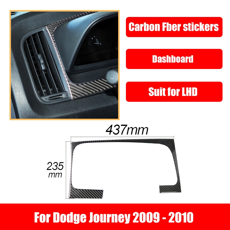 Car Accessories Interior Decoration For Dodge Journey 2009-2010 Carbon Fiber Stickers Dashboard Decoration Frame Automotive Good