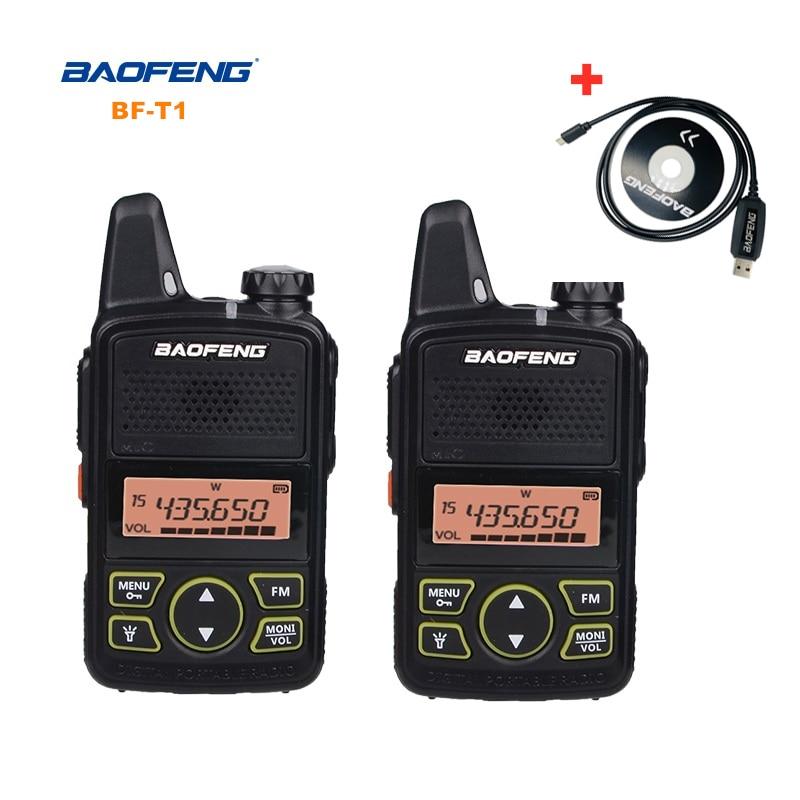 Baofeng BF-T1 Mini Walkie Talkie UHF Portable Two-way Radio BF T1 Ham Radio Handheld FM Transceiver Kids 5km CB Radio Intercom