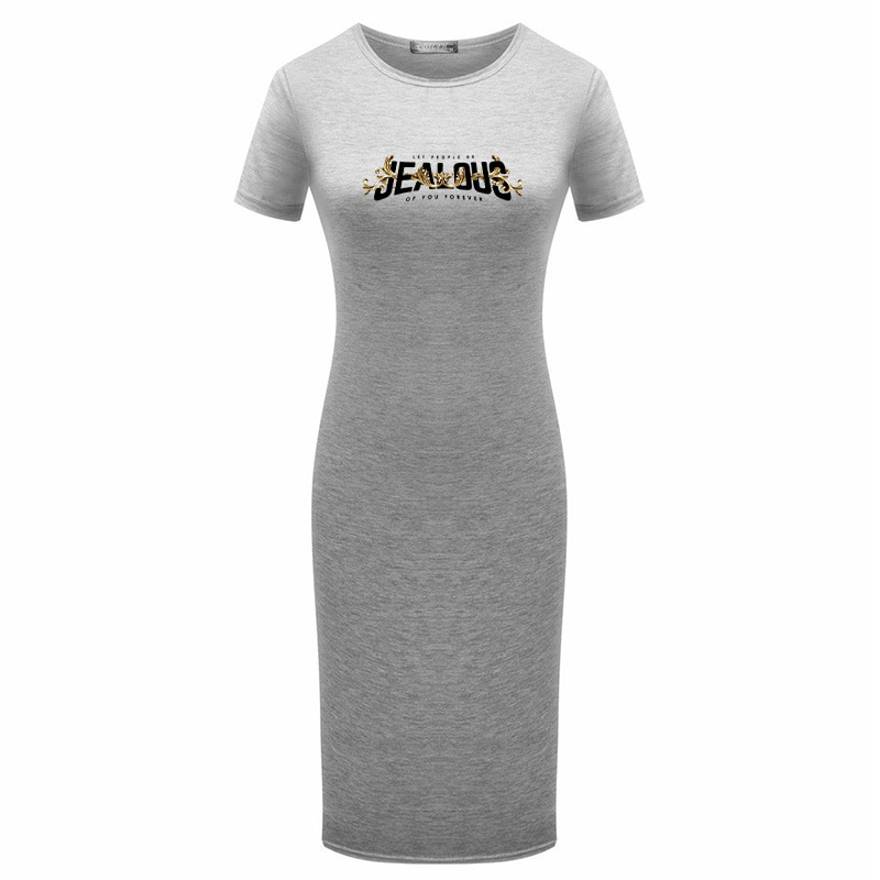 Summer Pencil Dress Party Solid Color O-Neck Short Sleeve Office Lady Beach Dresses Plus Size Slim Casual Clothes