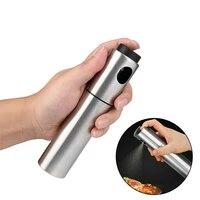 kitchen oil spray bottle for oil sprayer pump stainless steel seasoning dispenser leak proof nozzle kitchen accessories set