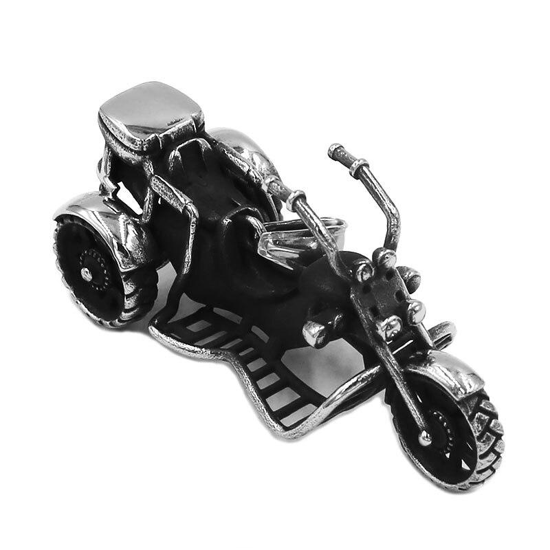 Triciclo do motor pingente de aço inoxidável colar legal motocicleta motociclista meninos pingente swp0523a