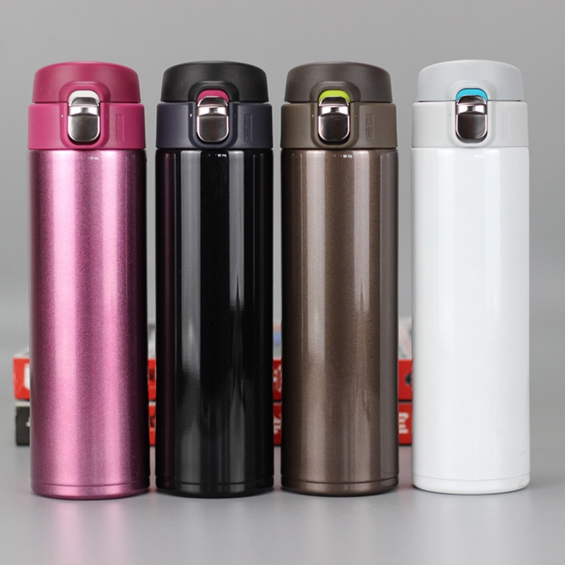 Thermos cup Thermos Mug Vacuum Cup 304 Stainless Steel insulated Mug 450ML Thermal Bottle Thermoses vacuum flask water bottle недорого