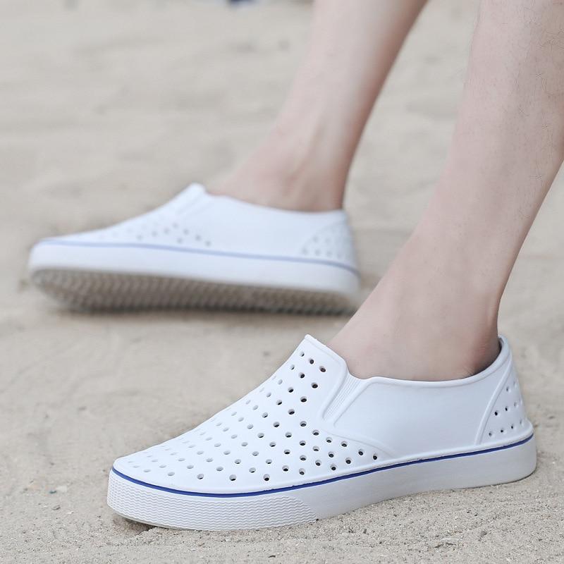 Sandalias para hombre informales estilo Gladiador, Zapatos planos, calzado de playa, superfibra