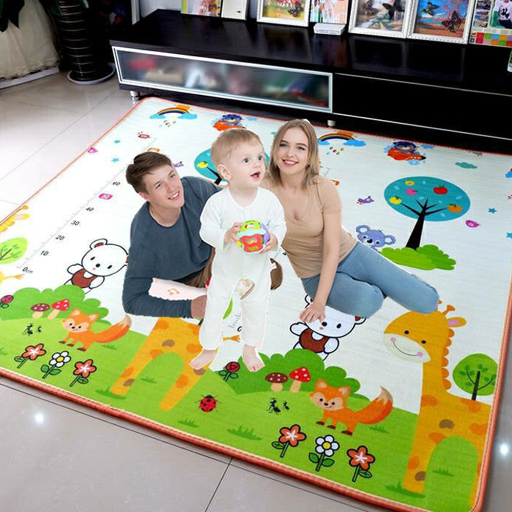 baby developing mat for newborn non toxic soft xpe foam baby climbing pad foldable activity gym for children playground kids rug 200*180cm Foldable Cartoon Baby Play Mat Xpe Puzzle Children's Mat Baby Climbing Pad Kids Rug Baby Games Mats Toys for Children