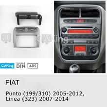 Painel de rádio da fáscia do carro para fiat punto (199/310) 2005-2012, linea (323) 2007-2014 traço kit console facia placa adaptador moldura
