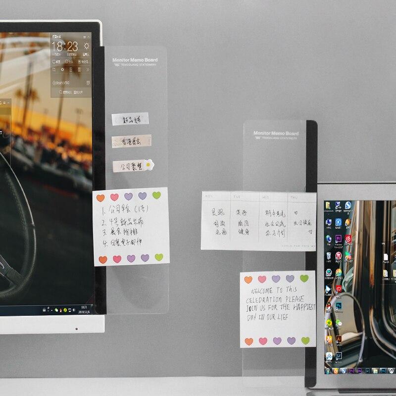 2020 sharkbang 30cm criativo computador portátil tela de exibição mensagem lateral nota placa kawaii transparente pegajoso notas placa