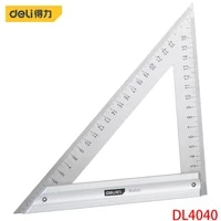 deli dl4040 set square specification 200 mm stainless steel tape aluminum alloy base measuring tool electrician hand tool