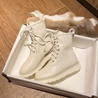 martin boots womens summer thin strap british wind thick bottomed locomotive rider short boots with flat bottomed white boots