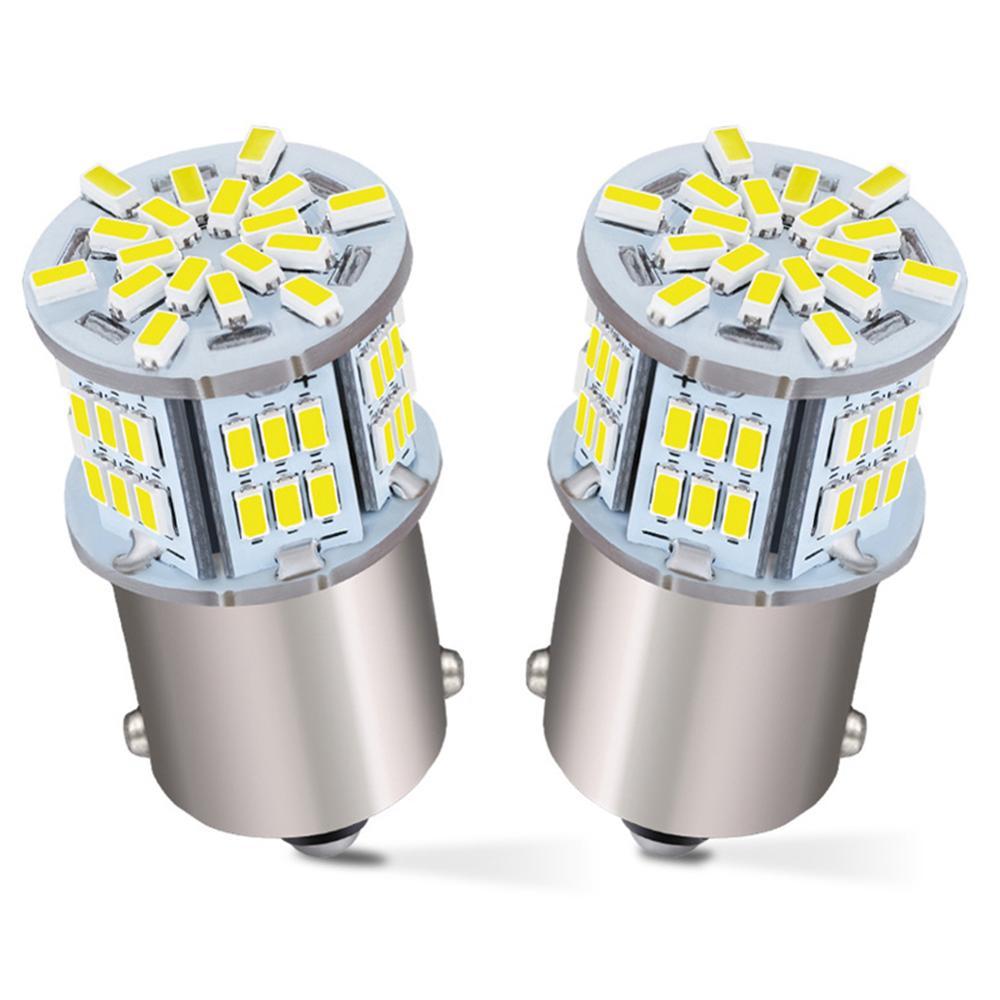 2x1156 светодиодный светильник 6000K белый, 1003 BA15S 1141 7506 светодиодный светильник для замены лампы для RV автомобиля Кемпер трейлер интерьер крытый...