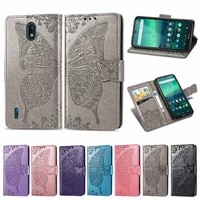 flip case for nokia 1 3 3d butterfly leather phone cover for nokia 1 3 preservation wallet capa coque shell book