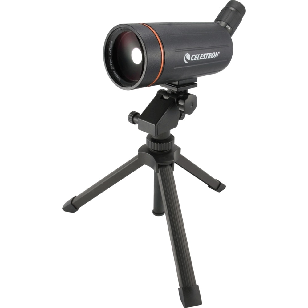 Celestron C70 Mini Mak bird watching mirror target mirror 25X-75X continuous zoom can be pulled in and out with desktop tripod