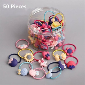 Girl Kids Elastic Hair band Rubber tie Child Vegetable Fruits Candy Hair Accessories резинки для волос gumka do wlosow Wholesale