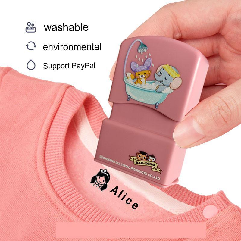 Изготовленный На Заказ детский штамп с именем «сделай сам» для детей, печать с именем на школьную одежду, наклейка с именем не выцветает