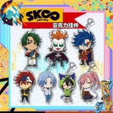 Anime SK∞ SK8 The Infinity Keychain Reki Kyan Miya Langa Cherry Blossom Cosplay Cartoon Costume Props accessories Badge