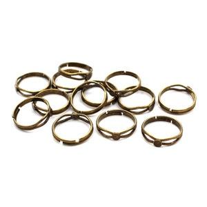 flat pad 1000pcs, material brass, antique  bronze tone, 4mm, 6mm, 8mm circle pad