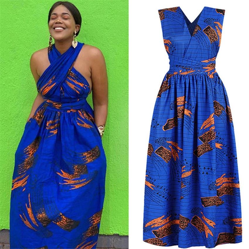 DIY encaje señoras Africana ropa 2020 Sexy pantalones Top faldas Maxi vestido túnica africana más africanos vestidos para las mujeres