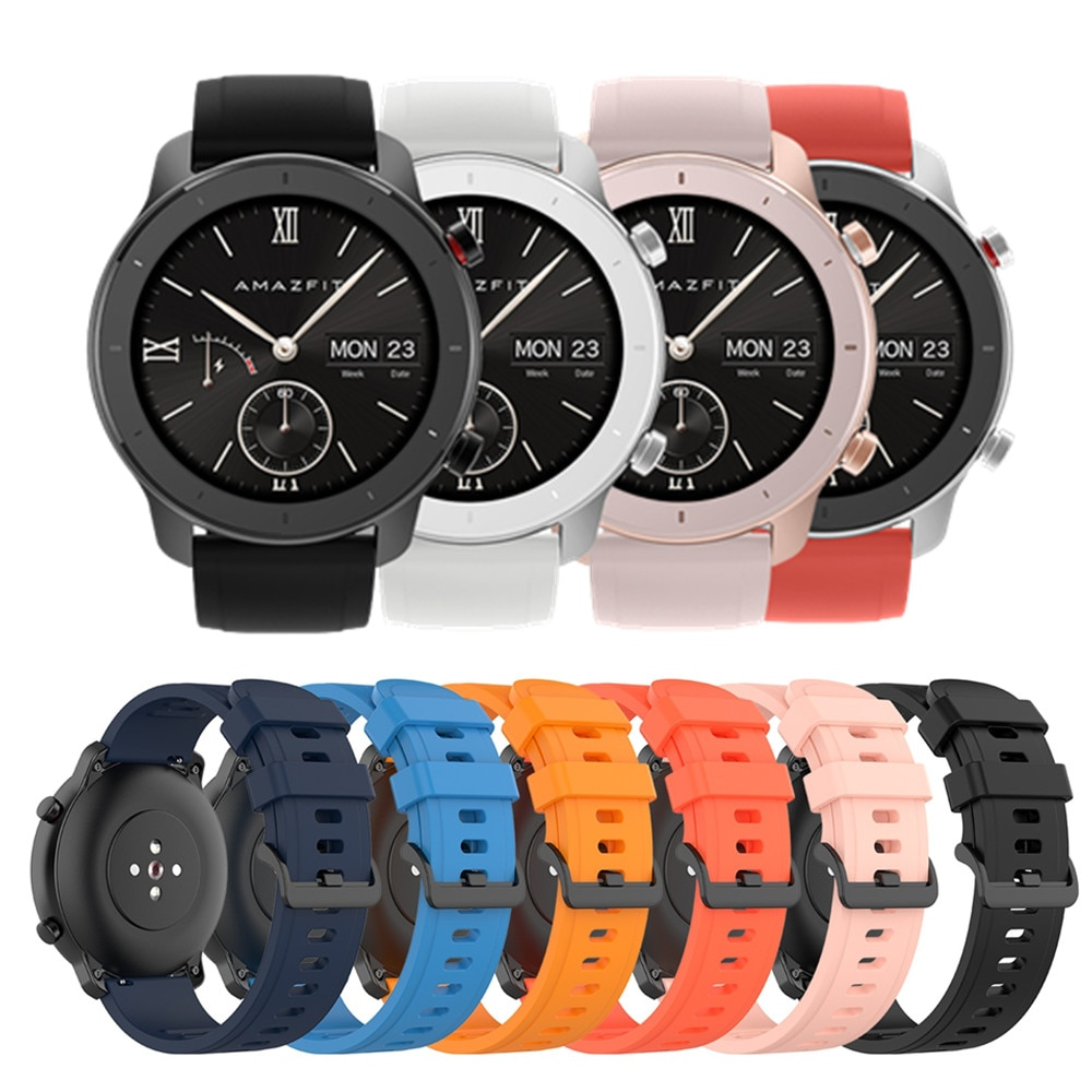 22mm bracelet strap for xiaomi huami amazfit pace stratos 2 gtr 47mm band for samsung gear s3 pulsera for huawei 2 pro gt correa For Xiaomi Huami Amazfit GTR 42mm Official Watch Band For GTR 47mm For Amazfit Pace/Stratos/Stratos 2 3 22mm 20mm Bracelet Strap